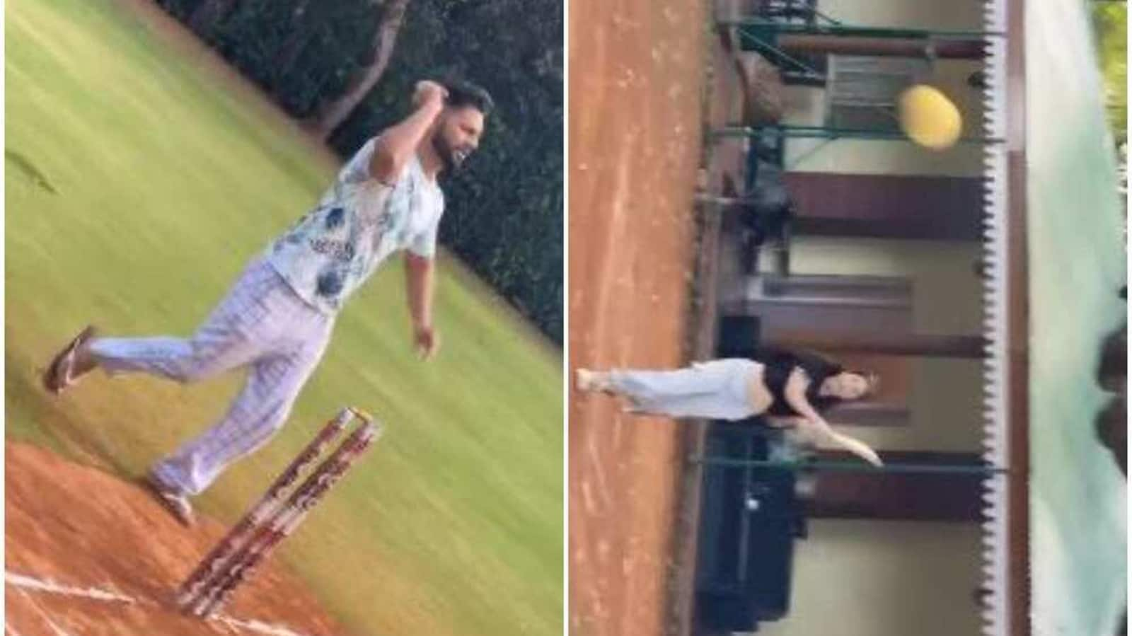 Rahul Vaidya's fiance Disha Parmar almost knocks friend out while playing cricket, he calls her 'Virat Kohli in making' - Hindustan Times
