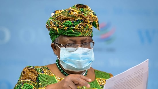 Okonjo-Iweala, 66, is both the first woman and the first African to serve as the WTO's director-general.(via Reuters)