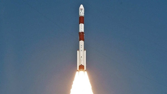 ISRO's PSLV-C51 carrying Amazonia-1 and 18 other satellites lifts off from Satish Dhawan Space Centre in Sriharikota on Sunday.(ANI Photo)