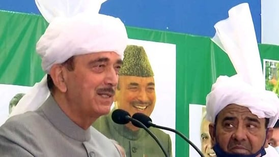 Azad said PM Modi speaks frankly about his past as a tea-seller and does not try to hide his background from the world.(ANI Photo)