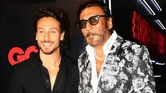 Tiger Shroff, who turns 31 on March 2, with his father, actor Jackie Shroff.