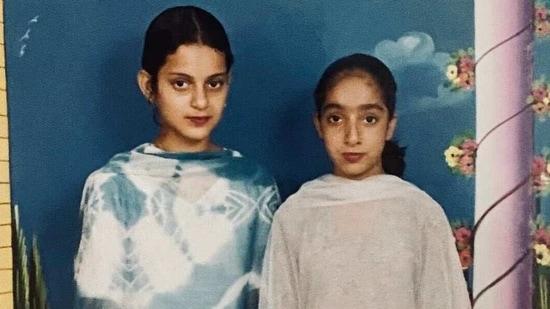 Kangana Ranaut has shared a childhood photo with a friend.