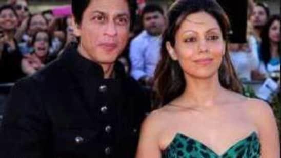 Shah Rukh Khan with Gauri Khan.