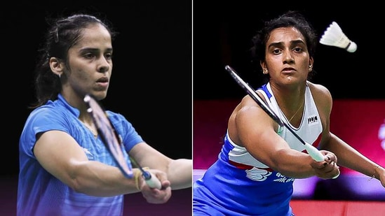Saina Nehwal (L), PV Sindhu (R)(HT Collage)