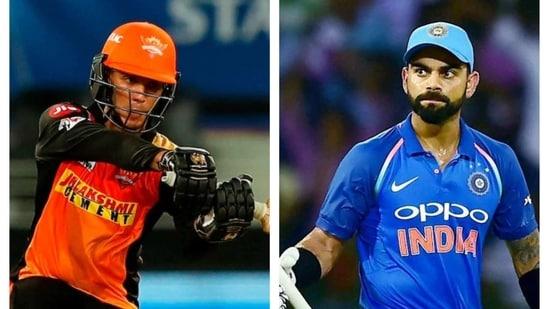 Abhishek Sharma and Virat Kohli.(IPL/PTI)