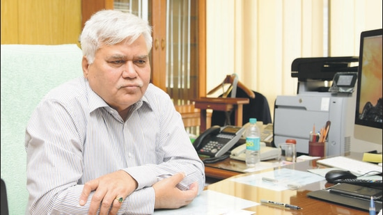 National health authority chairman R S Sharma . (HT archive)