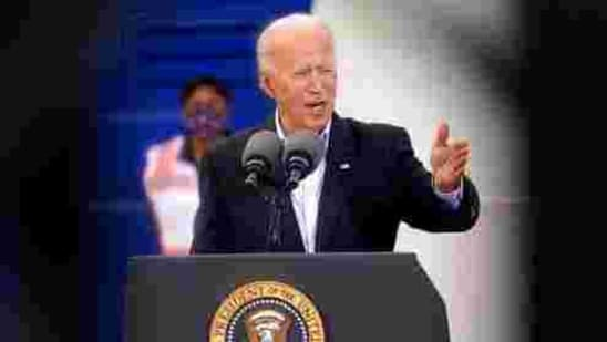 President Joe Biden speaks at a FEMA Covid-19 mass vaccination site at NRG Stadium, Friday(AP Photo)