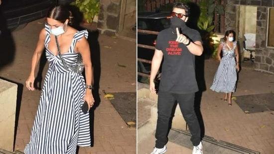Malaika Arora and Arjun Kapoor at Kareena Kapoor's home(Varinder Chawla)