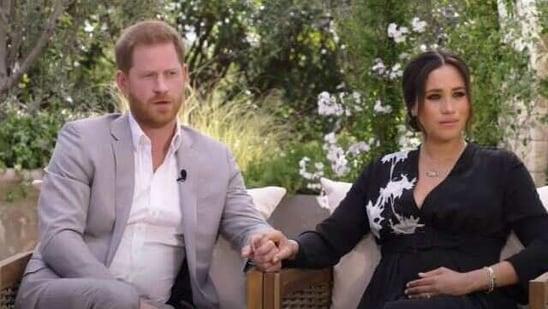 Harry and Meghan speak to Oprah Winfrey.