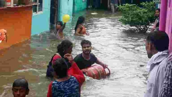 """""""The steep rise in extreme weather events in recent decades is mainly because of climate change,"""" said M Rajeevan, secretary, ministry of earth sciences and co-author.(ANI file photo. Representative image)"""
