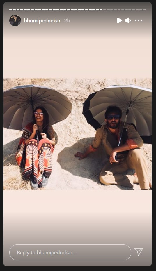 Bhumi Pednekars Instagram stories.