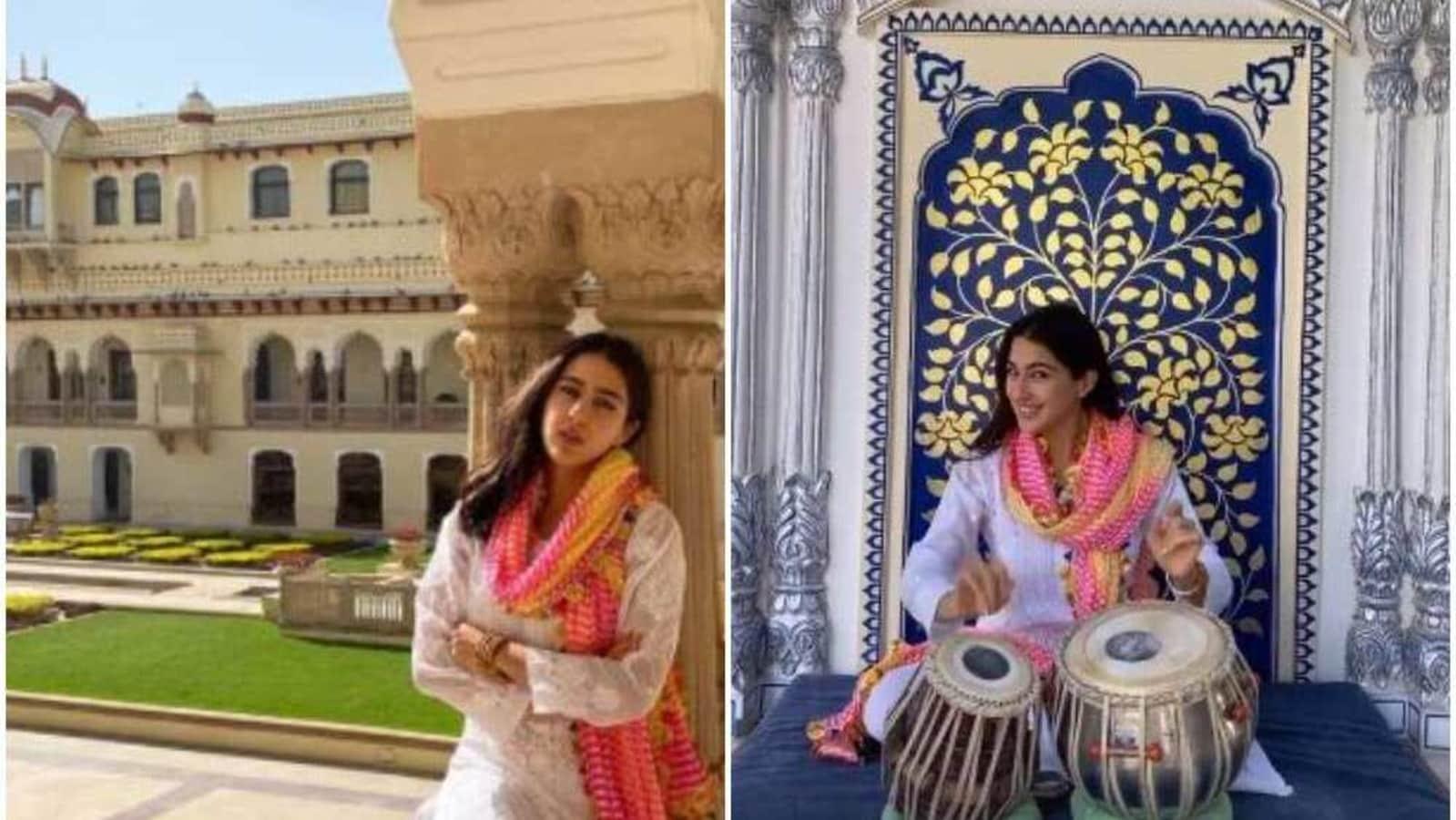 Sara Ali Khan plays tabla, shares fresh pics from her Jaipur visit - Hindustan Times