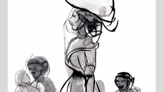 And artwork from Jatin Das's Exodus 2020.(Instagram)