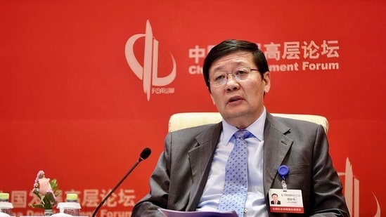 Lou Jiwei, chairman of the National Council for Social Security Fund (NCSSF), speaks at the China Development Forum in Beijing, China in this file photo from 2018. (REUTERS)