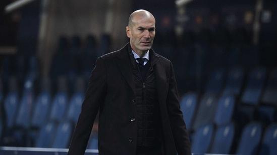 Real Madrid coach Zinedine Zidane.(REUTERS)