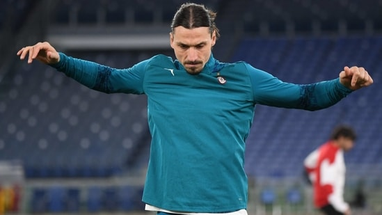 Soccer Football - Serie A - AS Roma v AC Milan - Stadio Olimpico, Rome, Italy - February 28, 2021 AC Milan's Zlatan Ibrahimovic during the warm up before the match REUTERS/Alberto Lingria(REUTERS)