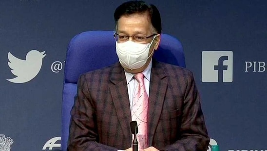 Health secretary Rajesh Bhushan confirmed that the first dose of the vaccine has been administered to 6,704,856 healthcare workers and a second dose has been administered to 2,598,192 of them.(ANI)