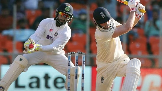 England's Ben Foakes during the 2nd day of the 3rd Test Match in the series between India and England at Narendra Modi Stadium, Motera in Ahmedabad,((ANI Photo/ECB Twitter))