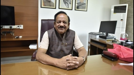 Union health minister Harsh Vardhan. (Sanjeev Verma/HT PHOTO)