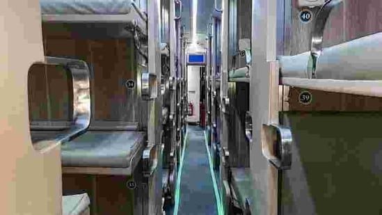 The luxuries of the Economy AC 3-tier coaches include personalised reading lights, AC vents, USB points, mobile charging points, improved ladder to climb to the upper berth and snack tables next to the aisle berths.