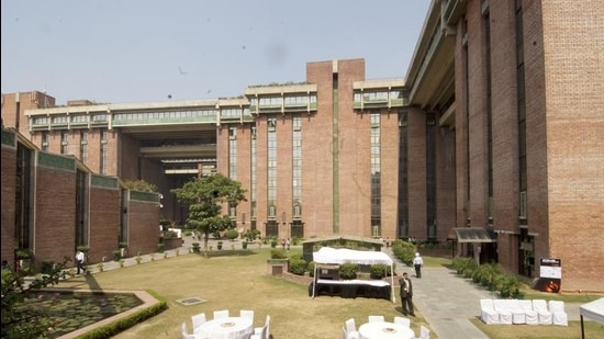 India Habitat Centre is among the buildings symbolic of Delhi's growth since Independence. (HT archive)