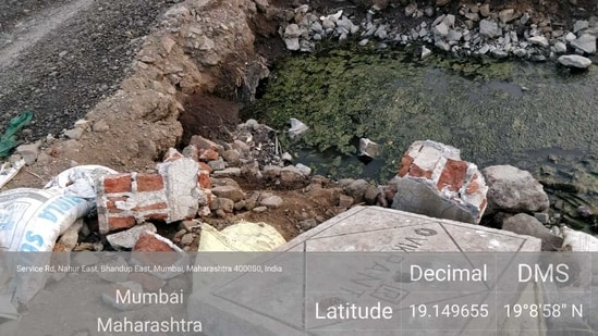 The environmentalist has submitted pictures and videos with location coordinates as evidence of illegal dumping. (Sourced Photo )