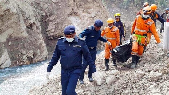 Search and rescue operations for the missing underway in Chamoli. (ANI)(HT_PRINT)