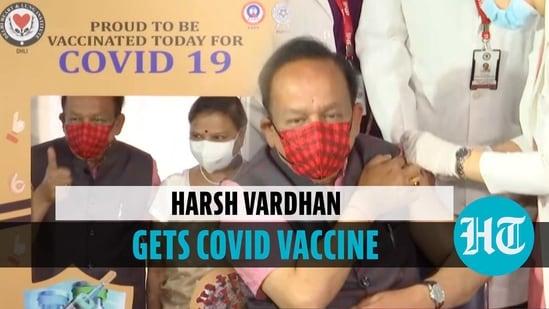 Health Minister Harsh Vardhan, wife Nutan Goel get Covid-19 vaccine shot