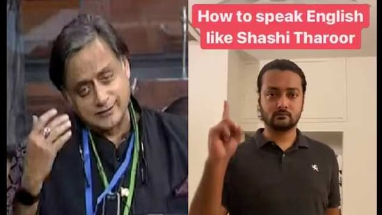 A sketch by Pakistani comedian Akbar Chaudhry on how to speak English like Shashi Tharoor grabbed the attention of netizens.(Twitter/@akbar chaudhry)