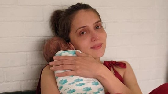 Jankee Parekh with son Sufi.
