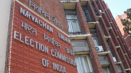 Trinamool Congress officials met Election Commission officials in Kolkata and expressed their grievances concerning the usage of the photos of the Prime Minister on Centre's schemes. (Arvind Yadav/HT File Photos)