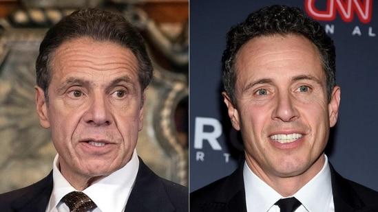 New York Gov. Andrew M. Cuomo (left) and CNN anchor Chris Cuomo (right)(AP/ File Photo)