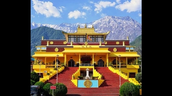 At least 160 monks at Gyuto Tantric Monastery in Sidhbari near Dharamshala have tested positive for Covid-19 since the last week of February. (HT Photo)