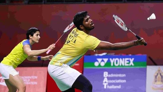 India's mixed doubles pair of Satwiksairaj Rankireddy and Ashwini Ponnappa(Twitter)