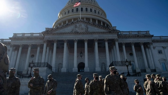 "Police said they have bolstered security in Washington after intelligence uncovered a ""possible plot to breach the Capitol"" on March 4.(AFP)"