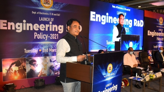 Karnataka deputy chief minister CN Ashwatha Narayana said the policy adds a new chapter in the enhancement of R&D in the state(Twitter/@drashwathcn)