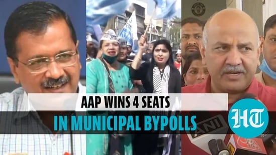 AAP wins 4 seats in MCD bypolls