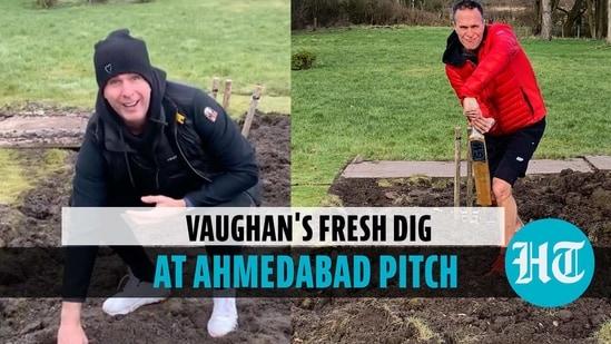 Michael Vaughan's fresh dig at Ahmedabad pitch