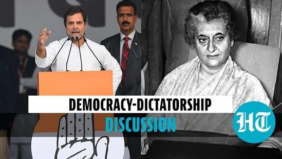Congress leader Rahul Gandhi commented on Indira Gandhi's dictatorial moment