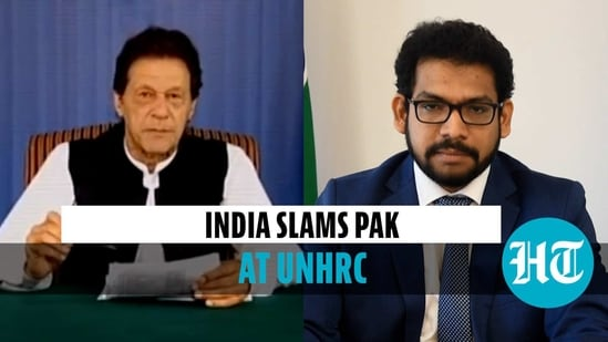 India slammed Pakistan and accused it of malicious propaganda against India at the UNHRC