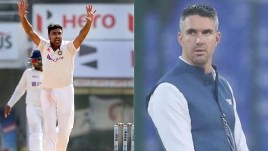 Ravichandran Ashiwn (L) and Kevin Pietersen (R)(HT Collage)