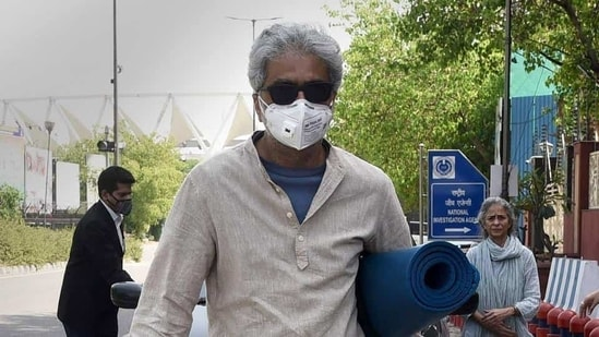 Civil rights activist Gautam Navlakha was first arrested in connected with this case in August 2018 when the case was probed by the Maharashtra Police. After NIA took over the probe last year, Navlakha surrendered in April 2020. (HT PHOTO).