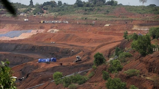 Goa's mining industry came to a halt in March 2018 after the Supreme Court ruled that the mining lease renewals granted by the state government were not as per law.(HT PHOTO)