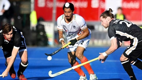 India started on an attacking note against Germany. (Hockey India/Twitter)