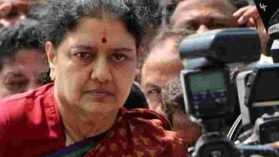 After being released from a Bengaluru prison following the completion of a four-year term in an assets case, Sasikala last month announced her intention to engage in active politics.(PTI file photo)