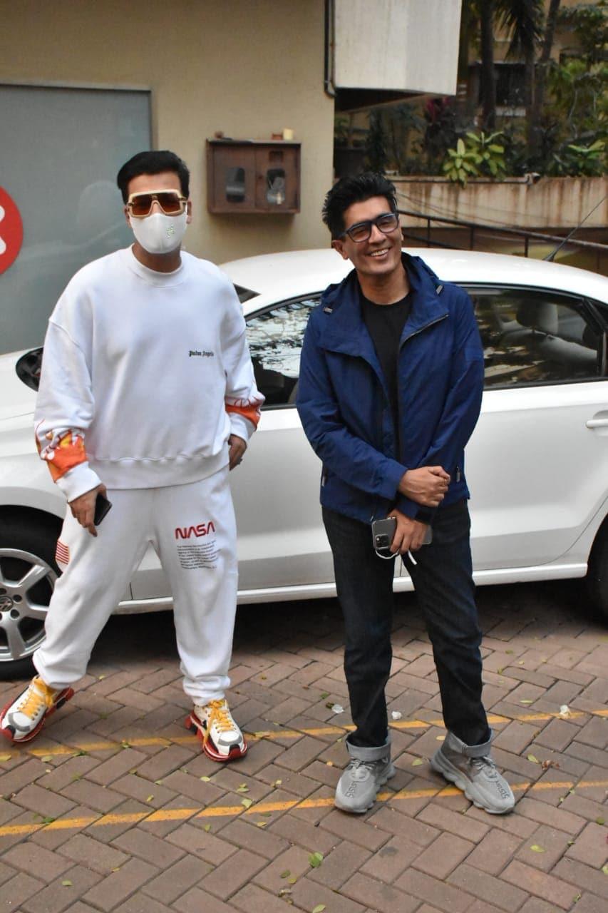 Karan Johar and Manish Malhotra(Varinder Chawla)