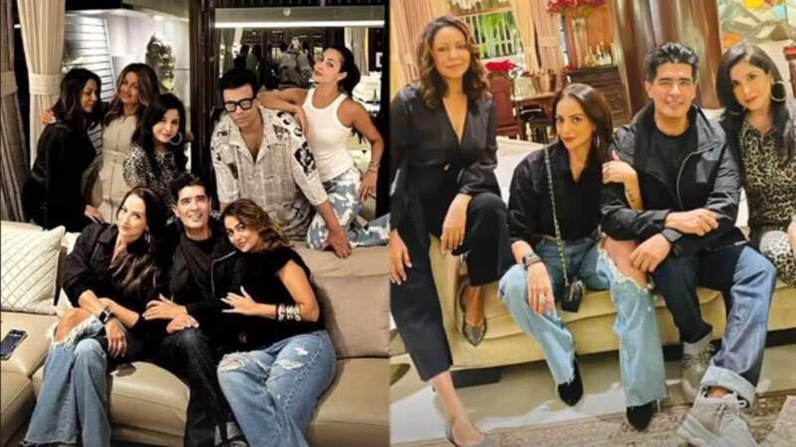 Gauri Khan steals attention in black as she joins Malaika Arora, Karan Johar, Karisma at Manish Malhotra's house party