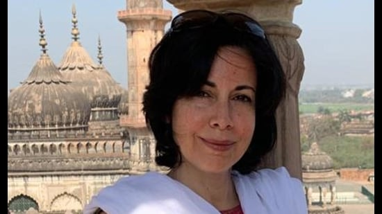 Ira Mukhoty at Bada Imambara on her recent visit to Lucknow (Sourced photo)