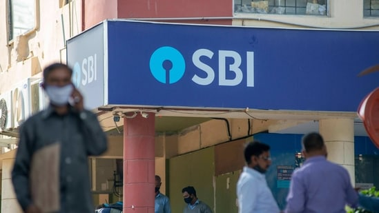 A branch of State Bank of India (SBI) is seen.(Mint)