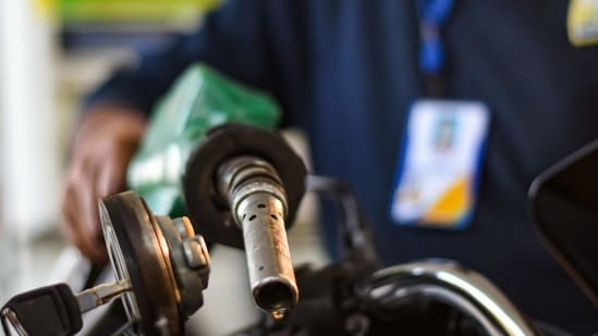 Customers are paying more in taxes than the base price for petrol and diesel according to the latest price data for petrol and diesel.(Amal KS/ Hindustan Times)